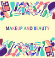 background of cosmetics shop beauty salon vector image