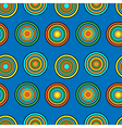 Blue and orange circles seamless pattern vector image vector image