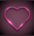 bright neon sign in form of heart retro neon vector image vector image