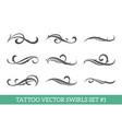 calligraphic swirls set vector image vector image