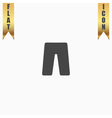 capri flat icon vector image