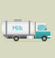 car with milk flat cartoon vector image vector image