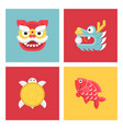 chinese new year lucky animal sign vector image vector image