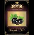Chocolate black currant realistic vector image