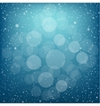 Christmas blue snow bokeh vector image