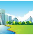 City scene vector image