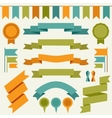 collection of decorative design elements vector image vector image