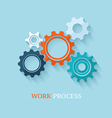 Color cogsgears on light background vector image vector image
