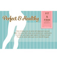 confident fit and firm womans legs shape banner or vector image