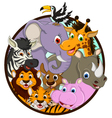 cute animal wildlife cartoon vector image vector image