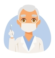 Doctor spetialist avatar face vector image vector image