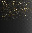 Festive Celebration Golden Confetti on Transparent vector image