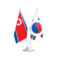 flags of north korea and south korea policy vector image