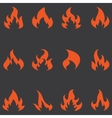 Flame set of icons vector image vector image