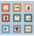 Golf sport items silhouette icon set Driver vector image vector image