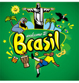 greeting series welcome to brasil vector image vector image
