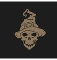 halloween skull head vector image
