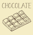 hand drawn chocolate line icon outline and filled vector image