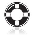 Help - life belt black icon vector image