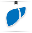human liver icon vector image