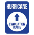 hurricane evacuation route road sign rough letters vector image vector image