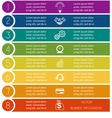 Infographic template from Colourful strips with vector image