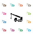isolated construction car icon machine vector image vector image