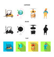 isolated object of goods and cargo logo set of vector image vector image