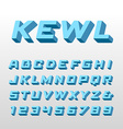 isometric font alphabet with 3d effect letters vector image