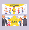 job search set banners vector image vector image