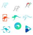 kangaroo logo design icon element vector image
