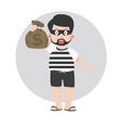 kid thief cartoon characterai vector image