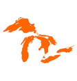 map great lakes vector image vector image