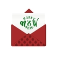 Message in envelope with happy new year greeting vector image