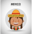Mexican kid vector image
