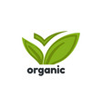 organic product logo template vector image vector image