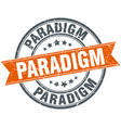 paradigm round grunge ribbon stamp vector image vector image