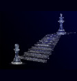 path to success geometric polygonal vector image