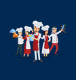 professional kitchen staff recruitment concept vector image