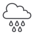 rain line icon weather and climate cloud with vector image vector image