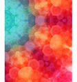 Retro pattern made of hexagonal shapes Mosaic vector image