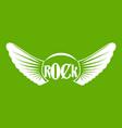 rock icon green vector image