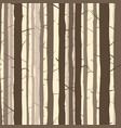 seamless background with many tree trunks vector image
