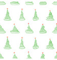 seamless pattern from sketch christmas trees vector image vector image