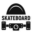 sport skateboard logo simple style vector image vector image