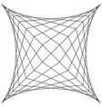 square spider web grid trap net trap vector image vector image