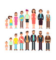 stages of growth people children teenager adult vector image
