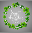 stpatricks day in a circle clover vector image vector image