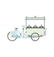 street food vendor bicycle vector image vector image