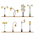 Street Lamp Post Set vector image vector image